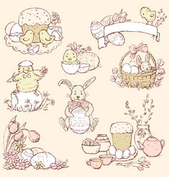 a set different easter pictures vector image