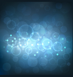 abstract dark blue bokeh background with light vector image