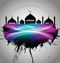 Abstract grunge eid mubarak background vector