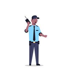 african american security guard man in uniform vector image