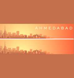 Ahmedabad beautiful skyline scenery banner vector