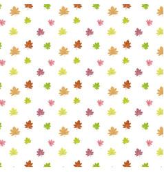 autumn set color maple leaves vector image