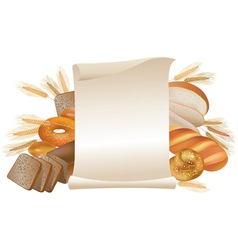 Bakery scroll vector