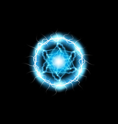 ball lightning light effect abstract round frame vector image