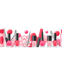 Banner with manicure tools vector