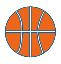 basketball isolated ball vector image