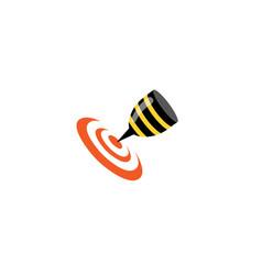 bee target goal logo vector image