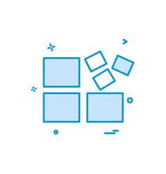 blocks icon design vector image