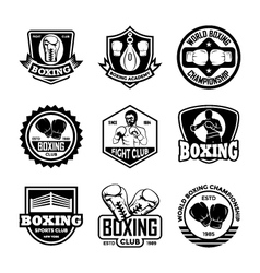 Boxing Badges vector