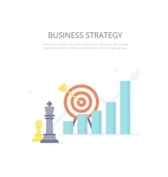 Business strategy Chess king target arrow vector image