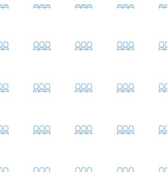 Chair icon pattern seamless white background vector