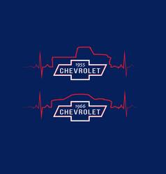 Chevrolet heartbeat vector
