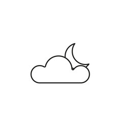 Clouds with moon icon vector