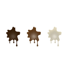 collection of chocolate cookies in the shape of vector image