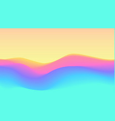 color rainbow wavy terrain background vector image