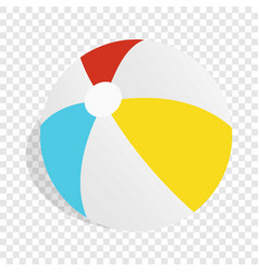 Colorful ball isometric icon vector
