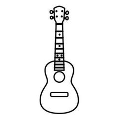 concert ukulele - hawaiian string musical vector image