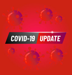 Covid19 19 update design background template vector