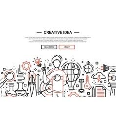 Creative Idea - line design website banner vector image