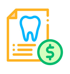 Dentist stomatology list thin line icon vector