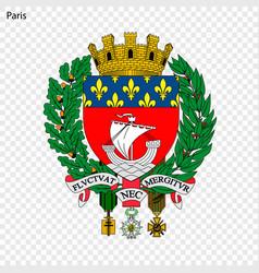 Emblem paris vector