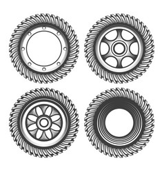 engraving gear set vector image