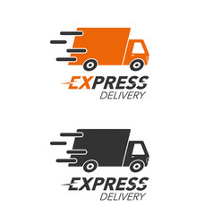 Express delivery icon concept truck service vector
