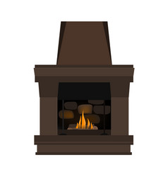 Fireplace in danish hygge style vector