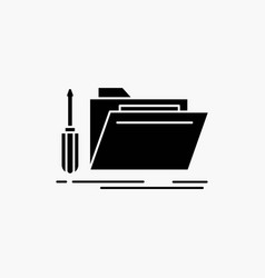 Folder tool repair resource service glyph icon vector