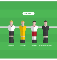 Football players group C vector
