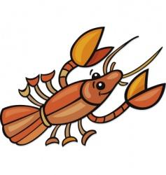 Funny crayfish vector