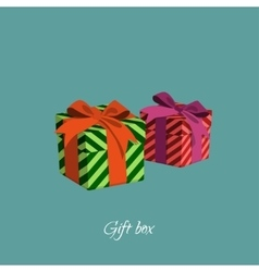 Gift box with strips in a cartoon style vector image vector image