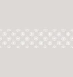 Gray french linen texture border background vector
