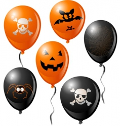 Halloween balloons vector
