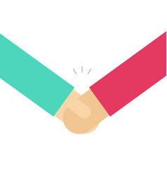 hand shake flat simple vector image