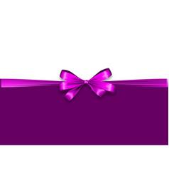Holiday satin gift bow knot ribbon lavender lilac vector