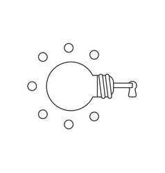 icon concept glowing light bulb key inside vector image