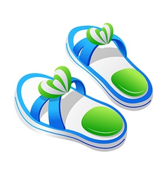 Icon slippers vector