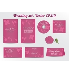 Invitation Save the Date Card Set - for Wedding vector image