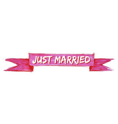 Just married ribbon vector