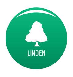 Linden tree icon green vector