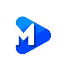 logo letter m triangle vector image