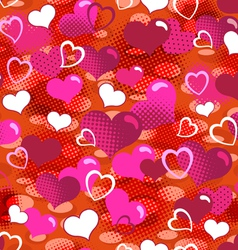 lovely hearts seamless background vector image