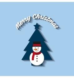 merry christmas tree icon vector image