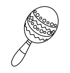 mexican icon cartoon vector image