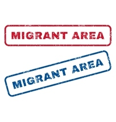 Migrant Area Rubber Stamps vector