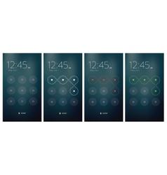 Mobile UI unlocking vector image