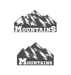 Mountain logo liner design logo vector
