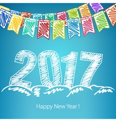 New Years Eve Background 2017 vector