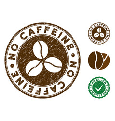 No caffeine stamp with grunge style vector